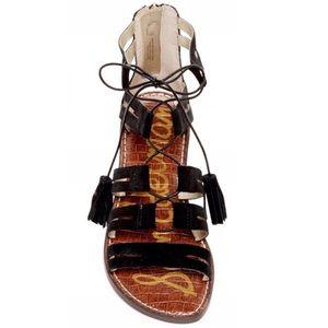 Sam Edelman Karine Black Lace Up Sandals 9.5